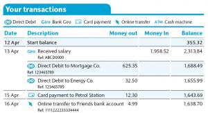 bank statments