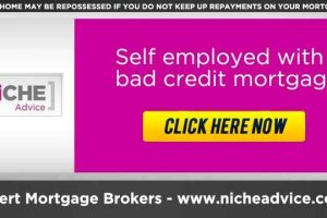 Self employed with bad credit mortgage rates
